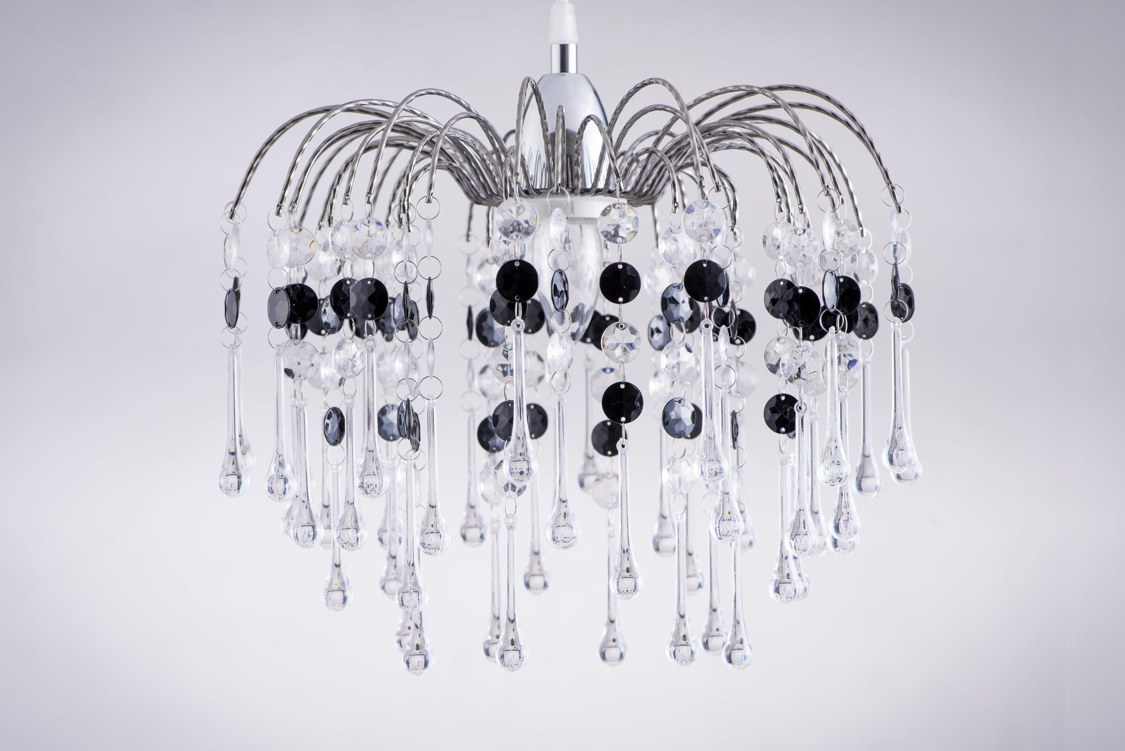 鍍鉻噴泉支架黑色壓克力珠吊燈-BNL00042 0