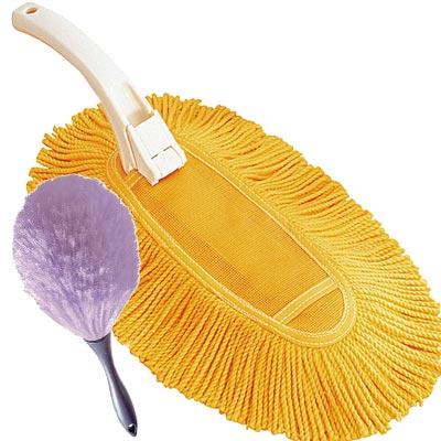 【DUSKIN】除塵滅蟎好幫手-除塵專家組(含除塵乾抹布、防靜電撢子)