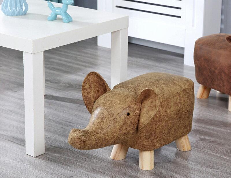 《麗亞》淺棕大象 動物 椅凳 矮凳 穿鞋凳 腳凳 造型椅 兒童椅 四腳凳 牛 河馬 大象 三色可選 !新生活家具! 樂天雙12 5