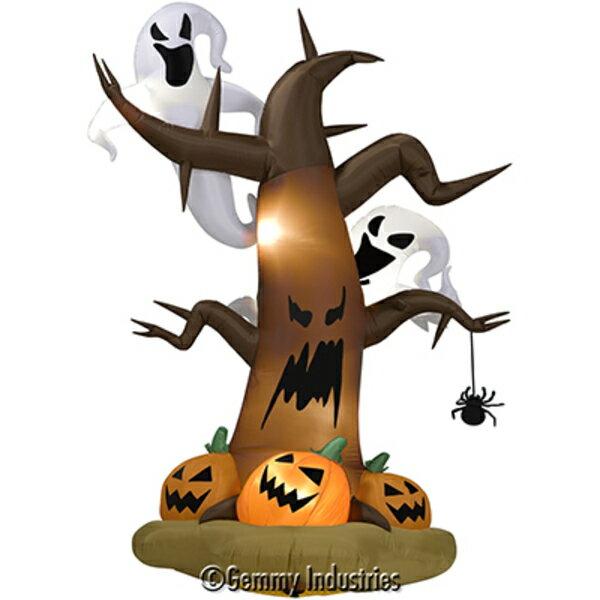 X射線【W007890】8呎充氣-枯樹,南瓜與鬼魂,萬聖節萬聖佈置充氣擺飾好收納南瓜鬼魂萬聖充氣會場佈置打卡神器舞會道具拱門