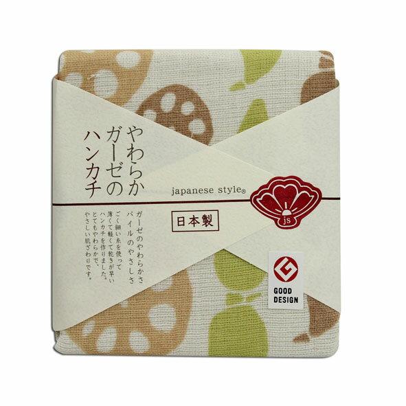 AKACHAN阿卡將日製雙層(紗布+毛巾)手帕-蓮藕