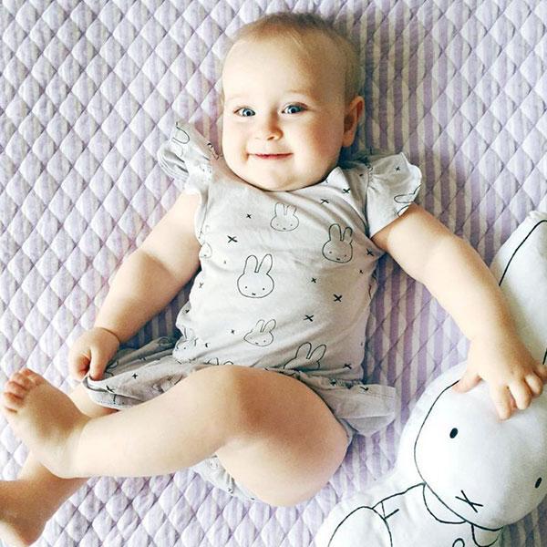 ins 米飛兔 miffy 包屁衣 洋裝 短裙 飛袖 荷葉邊 小洋裝 棉 兔子 可愛 連身裙 米菲兔 ANNA S.