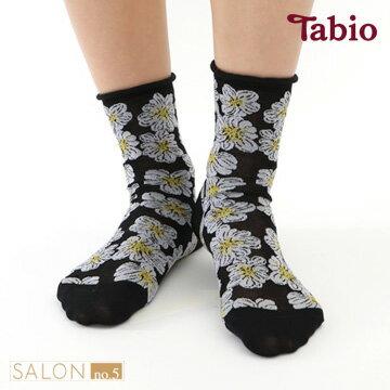 【靴下屋Tabio】優雅花卉棉短襪日本職人手做