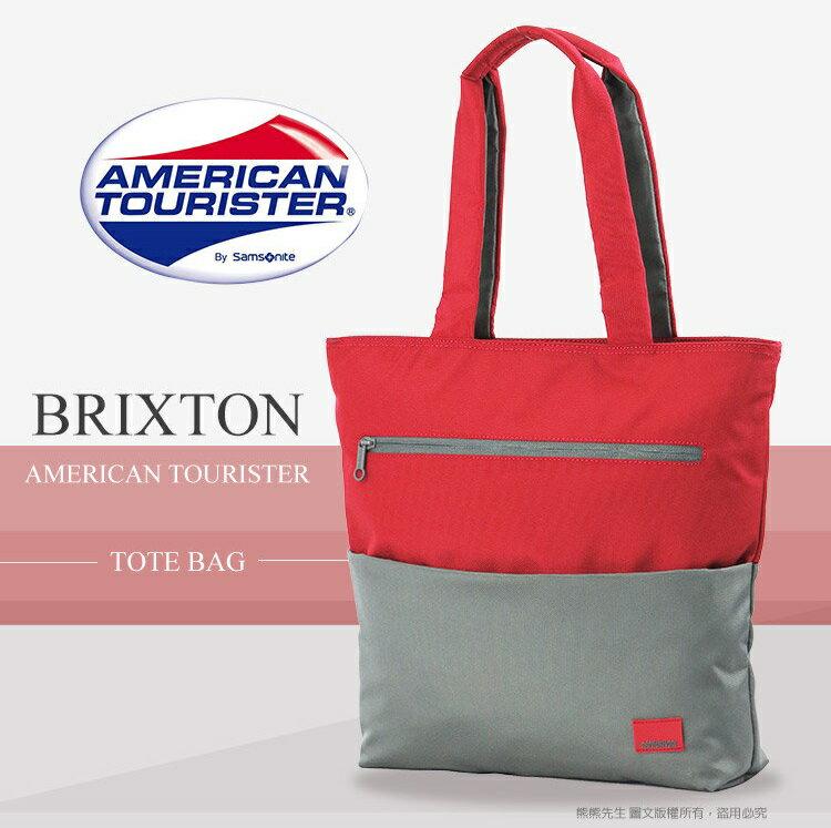 《熊熊先生》Samsonite 新秀麗 American Tourister  直立式筆電托特包 混色輕時尚  肩背包 側背包 14吋 手提包