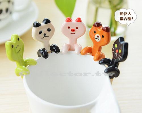 【S14062501】創意餐具-卡通陶瓷咖啡小湯匙 可掛式湯匙 造型湯匙
