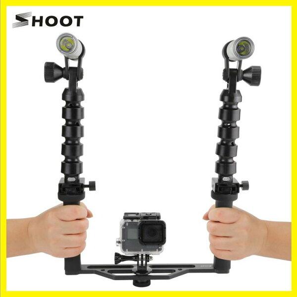 3699shop:秀田水下攝影燈gopro潛水補光燈潛水手電筒水下專用防水100M