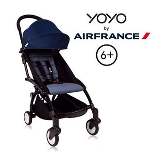 法國BABYZENYOYO+6+嬰兒手推車-(黑骨架)法航聯名款★衛立兒生活館★