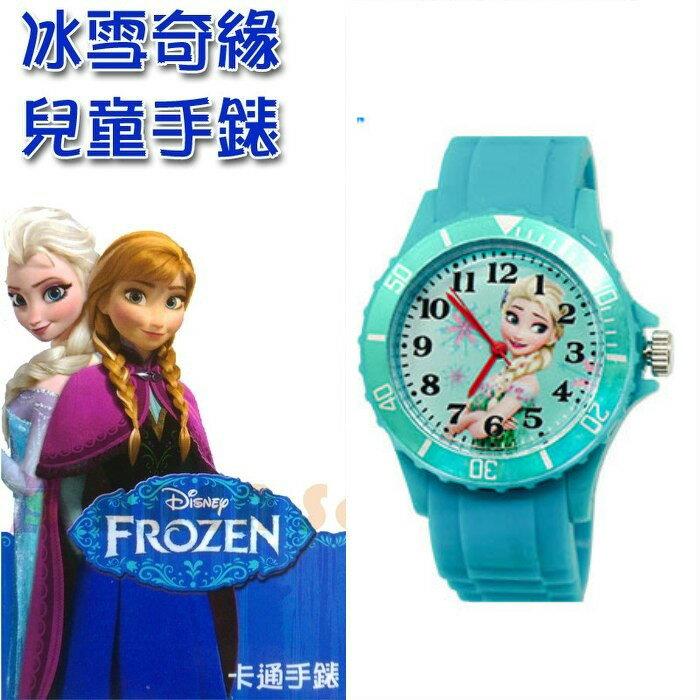 【禾宜精品】迪士尼 冰雪奇緣 艾莎 運動型兒童手錶 夜光指針 日本機芯 台灣製造 K-9334
