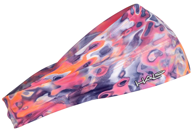汗樂(HALO BANDIT)超寬版套頭式頭帶-寧靜,由額頭10公分,逐漸往後窄至4公分,六款花色造型,塑造個人風格