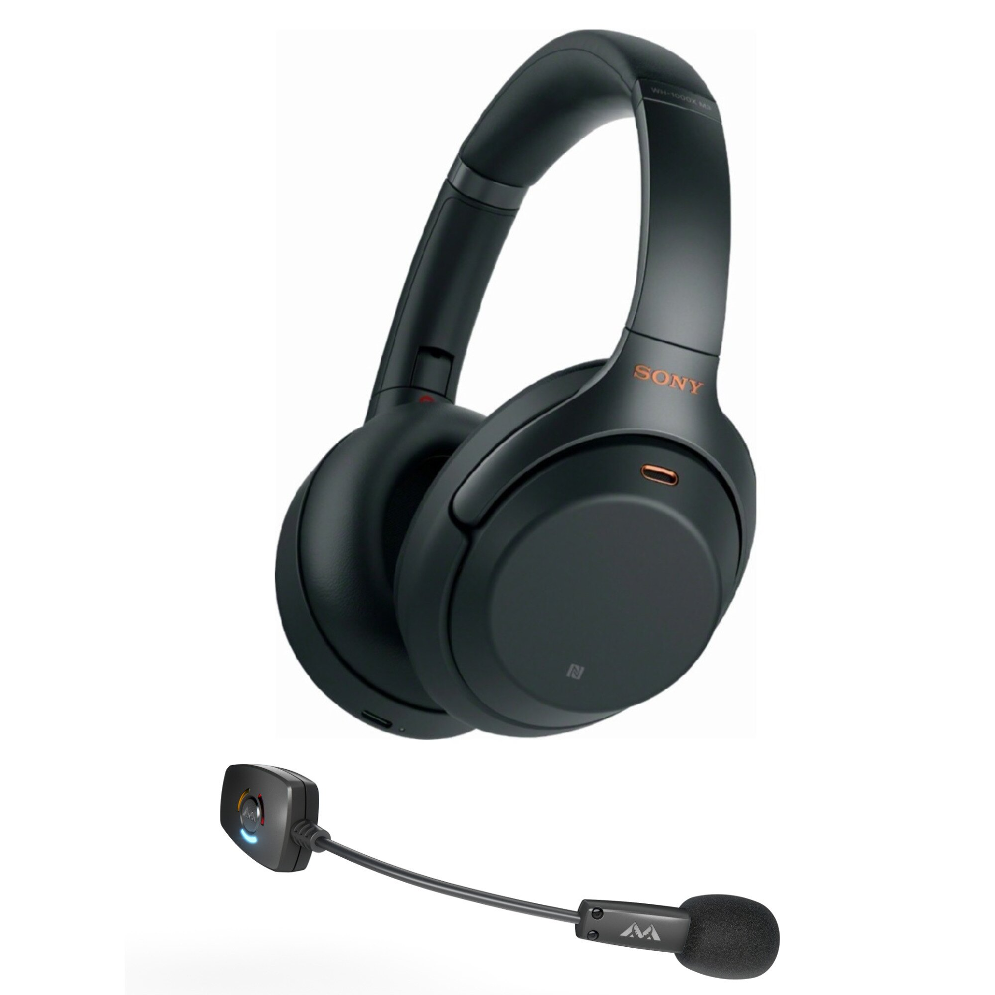 94bd782a059 Sony WH-1000XM3 Wireless Noise-Canceling Headphones (Black) with ModMic  Wireless