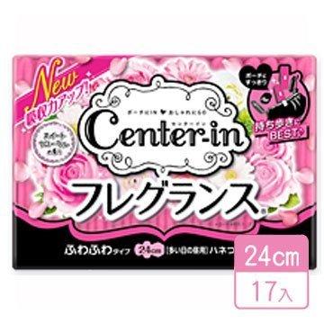 日本【Center-in】玫瑰花香輕柔蝶翼衛生棉-24cm/17入【#05】