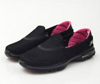 [陽光樂活] SKECHERS 健走系列 休閒鞋 GO Walk 3 (13852BKHP) 黑色 防潑水 特價 零碼