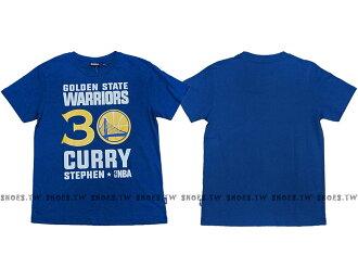 Shoestw【8660258-023】NBA T恤 金州 勇士隊 30號 CURRY STEPHEN 藍色 短袖棉T