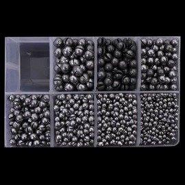 【圓形夾鉛-4B-直徑5.4mm-重1.0g-400個/組】開口咬鉛圓珠鉛磯釣海釣筏釣小配件 1B-7B自選(可混選 聯繫客服)-76017