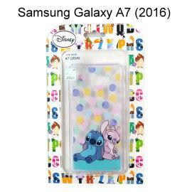 迪士尼透明軟殼[點點]史迪奇&Angel Samsung A710Y Galaxy A7 (2016)【Disney正版授權】