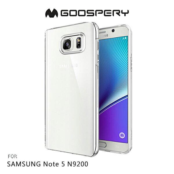強尼拍賣~ GOOSPERY SAMSUNG Galaxy Note 5 N9200 CLEAR JELLY 布丁套 高透光 透明殼