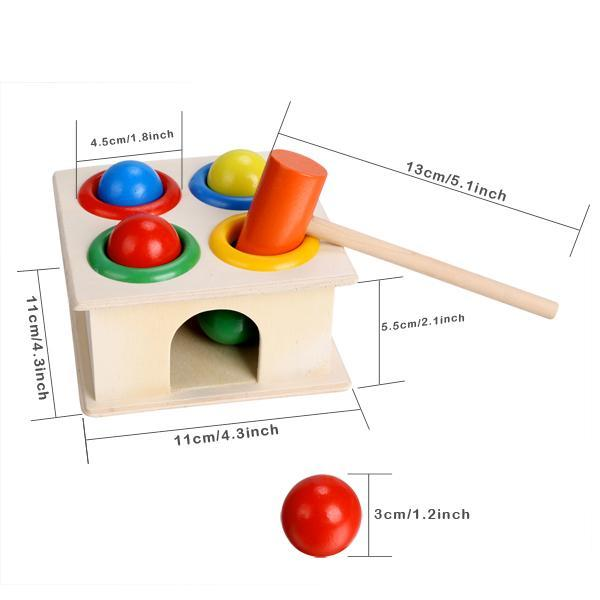 Children Early Education Interest Multi-color Small Hit Ball Box Toys 2