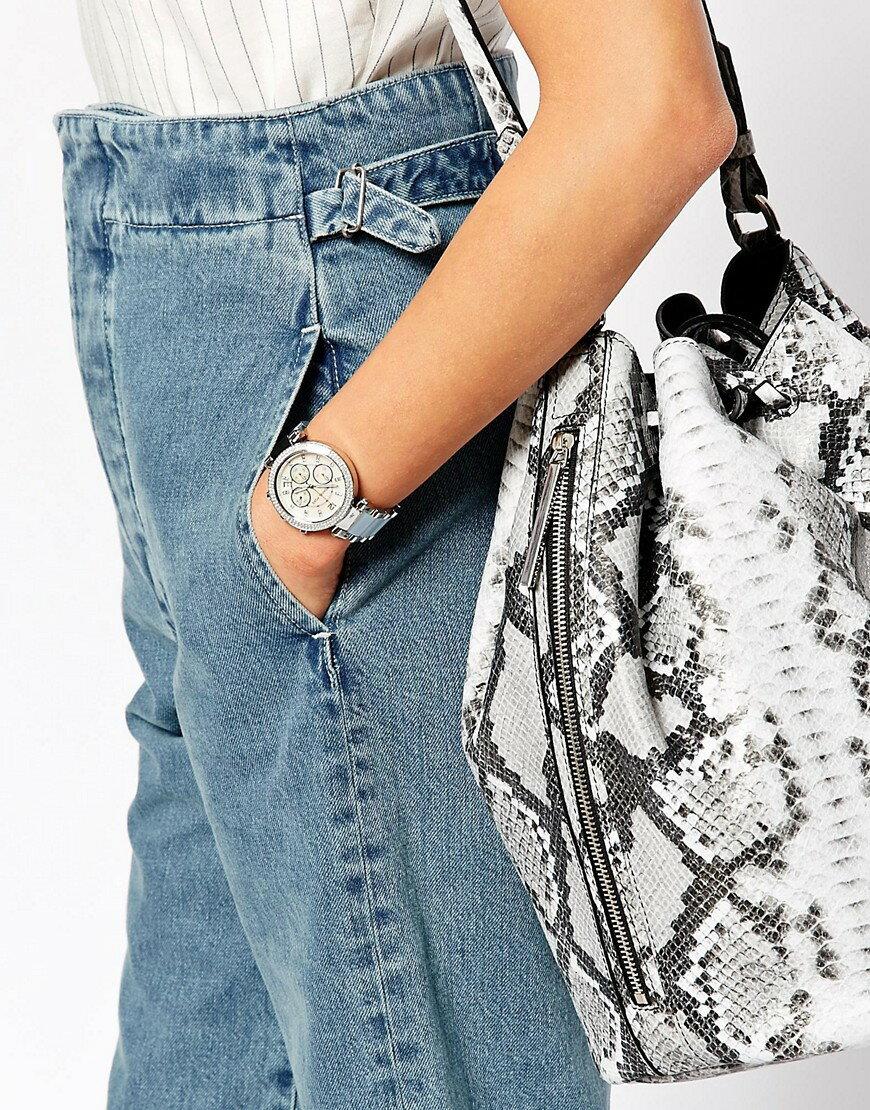 【MICHAEL KORS】正品  美式奢華休閒腕錶 水藍色錶盤水鑽 MK6138 3