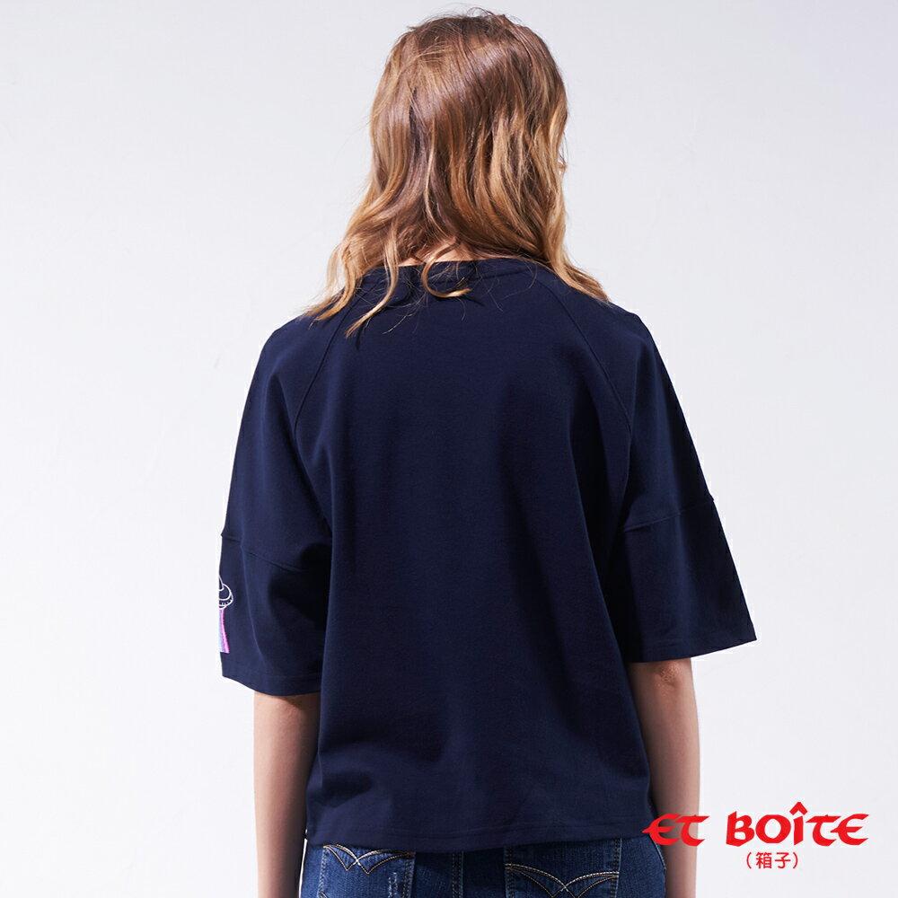 【19'新品】  ET Amour 嘿!好朋友五分袖TEE(藏青)- BLUE WAY ET BOîTE 箱子 2