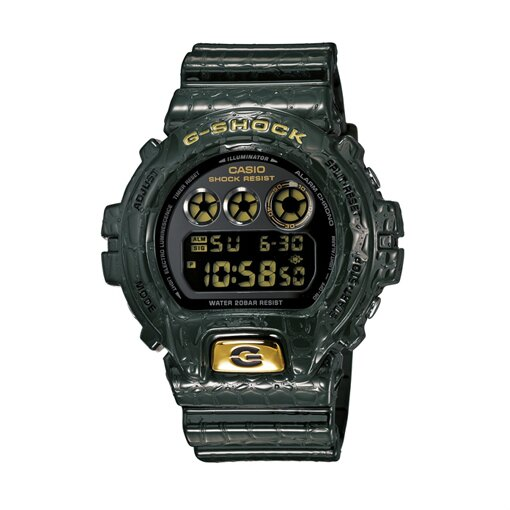 CASIO G-SHOCK DW-6900CR-3DR惡沼凶鱷數位流行腕錶/50mm