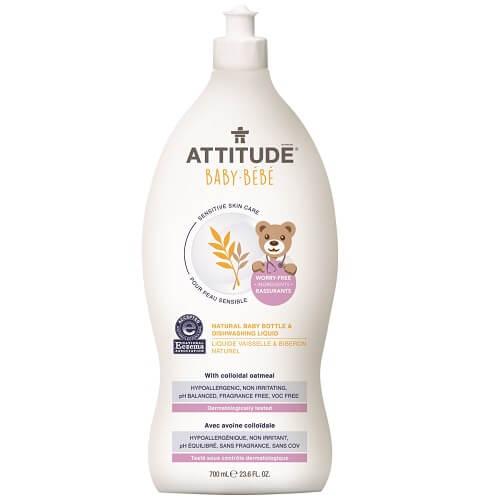 加拿大【ATTITUDE艾特優】寶寶敏感肌膚奶瓶餐具洗潔精(無香精)