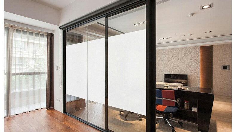 ☆喨晶晶生活工坊☆白霧面-PVC靜電貼、玻璃貼、窗貼、無背膠、防水、可重覆黏貼、可自行剪裁、免費代客裁切 60*200cm