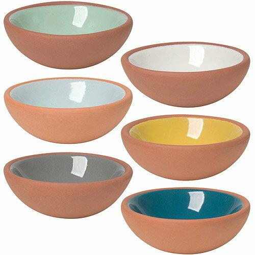 《NOW》雙色赤陶調味碗6入(60ml)