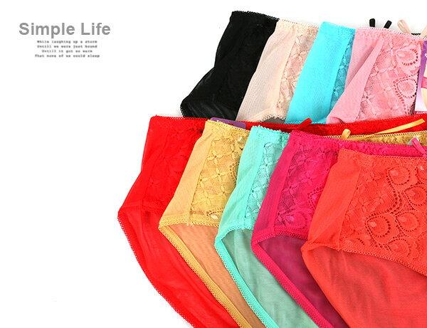 3件199免運【夢蒂兒】超透氣網布三角褲3件組(隨機色) 1