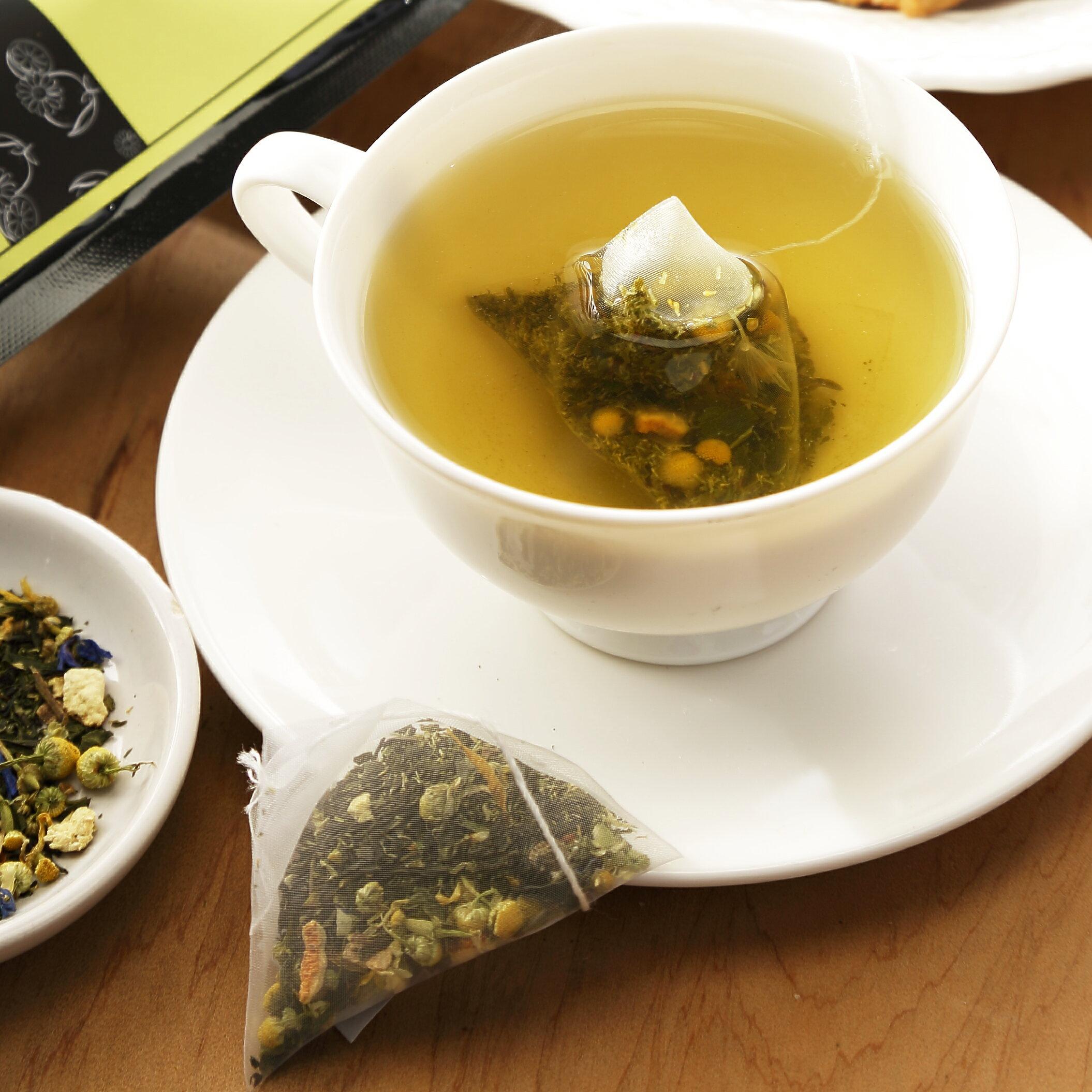 【午茶夫人】洋甘菊香柚綠茶 - 16入 / 罐 ☆ 近乎0卡微熱量。感受花草茶能量。舒緩緊張壓力感 ☆ 3
