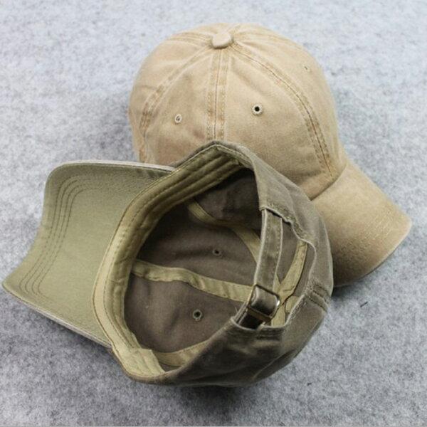 糖衣子輕鬆購【DZ0299】韓版時尚帥氣百搭棒球帽遮陽帽水洗運動帽彎檐帽