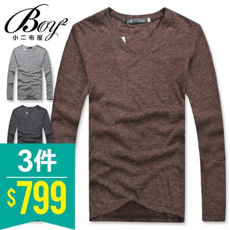 ☆BOY-2☆ 【PPK86009】簡約V領素面薄針織衫 0