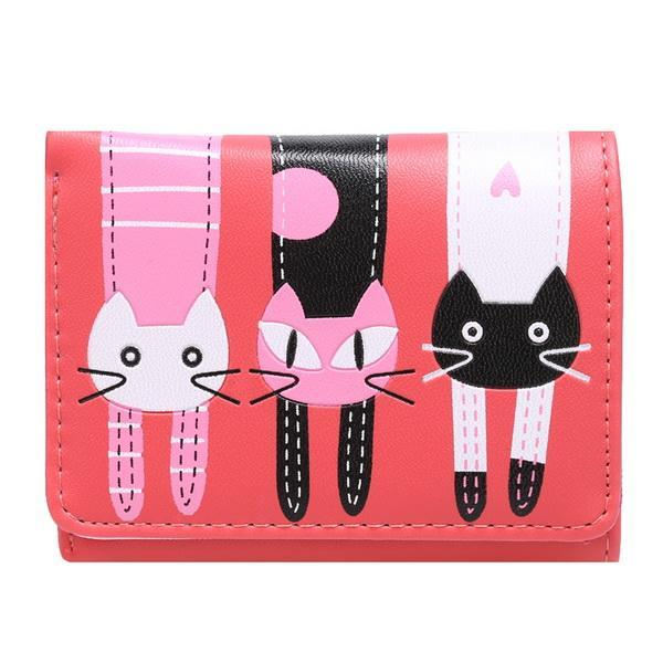 Cartoon Lovely Cat Pattern Trifold Wallet Short Coin Purse Card Holder 3