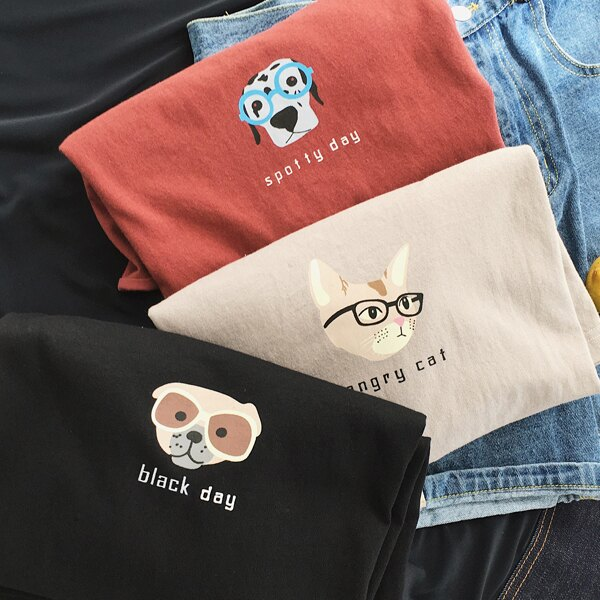 T恤 情侶裝 客製化 MIT台灣製純棉短T 班服◆快速出貨◆獨家配對情侶裝.貓貓 狗狗【Y0719】可單買.艾咪E舖 3