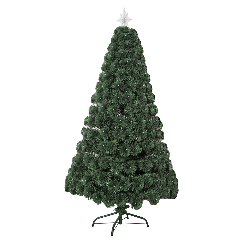 HomCom 4' Artificial Holiday Decoration Light Up Christmas Tree - Green 3