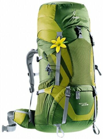 【露營趣】中和 6好禮 德國 deuter Act Lite 60+10SL拔熱透氣背包 登山背包 自助旅行背包 登山袋 4340015