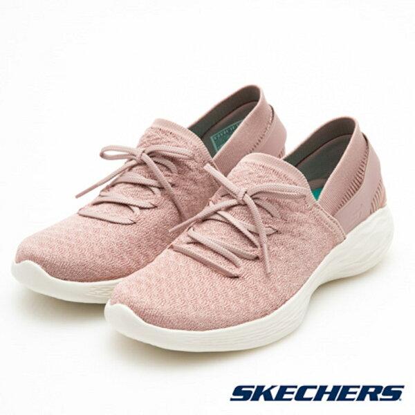 SKECHERS女健走系列YOU(灰粉)懶人鞋襪套14975MVE【胖媛的店】
