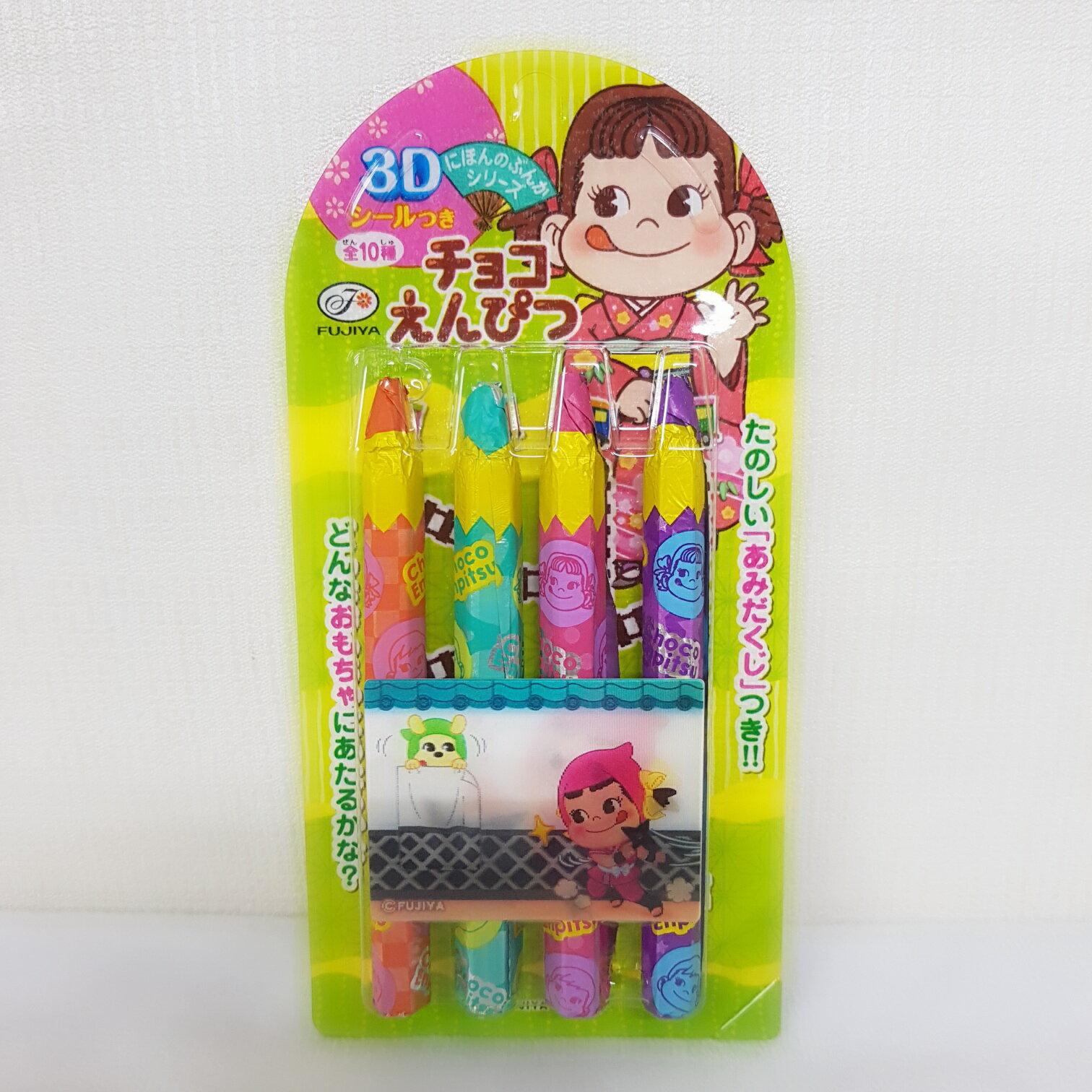 不二家3D巧克力鉛筆-27g盒(隨機出貨)