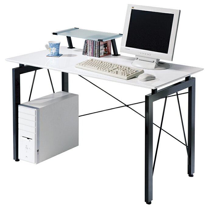 【尚品家具】JF-339-3 歐雪4尺白色鋼烤電腦桌(含上架)