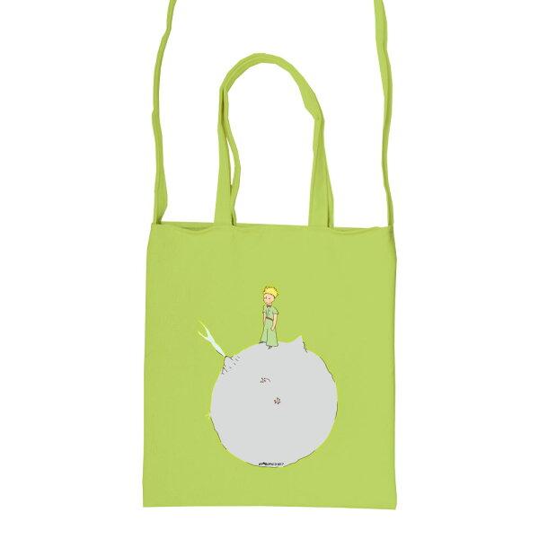【小王子經典版】彩色斜背包-另一個星球(果綠)