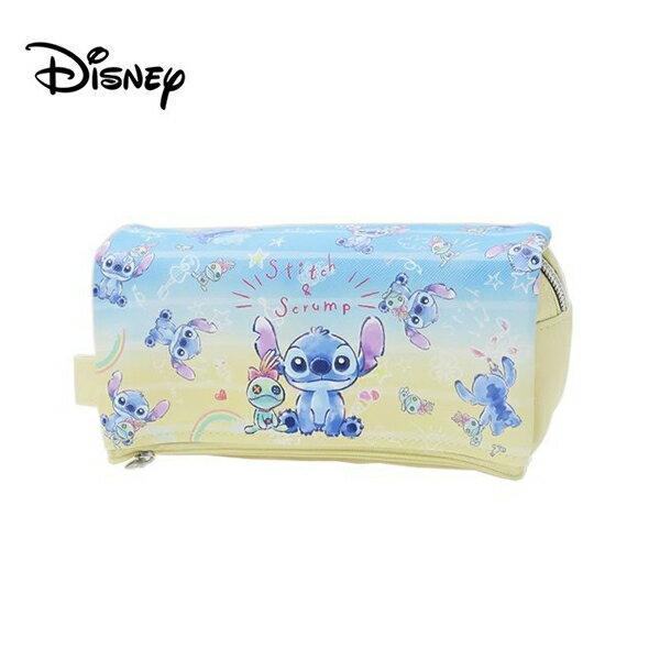 鵝黃款【日本正版】史迪奇皮革掀蓋筆袋鉛筆盒筆袋Stitch迪士尼Disney-794264