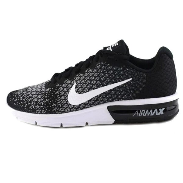 NIKE AIR MAX SEQUENT 2 男鞋 慢跑鞋 氣墊 編織 雪花 黑 白 【運動世界】 852461-005