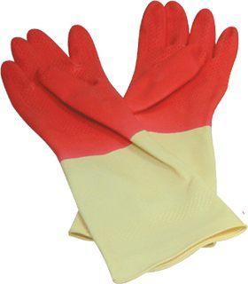 【康乃馨】家庭用雙色手套/塑膠手套/清潔手套 (M號/L號)