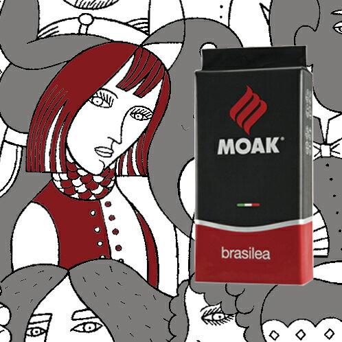 Brasilea 紅牌豆 MOAK 1公斤義式咖啡豆