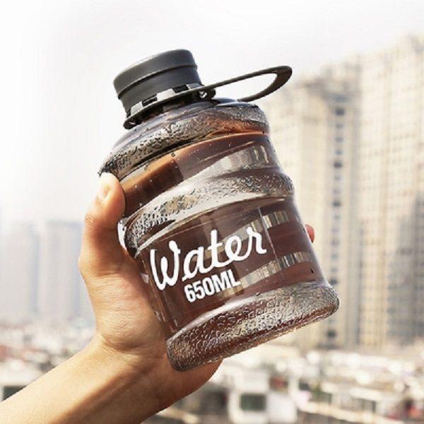 PS Mall 韓國新款創意mini迷你bottle學生飲水機水桶便攜隨手杯650ML 水壺 【J2381】