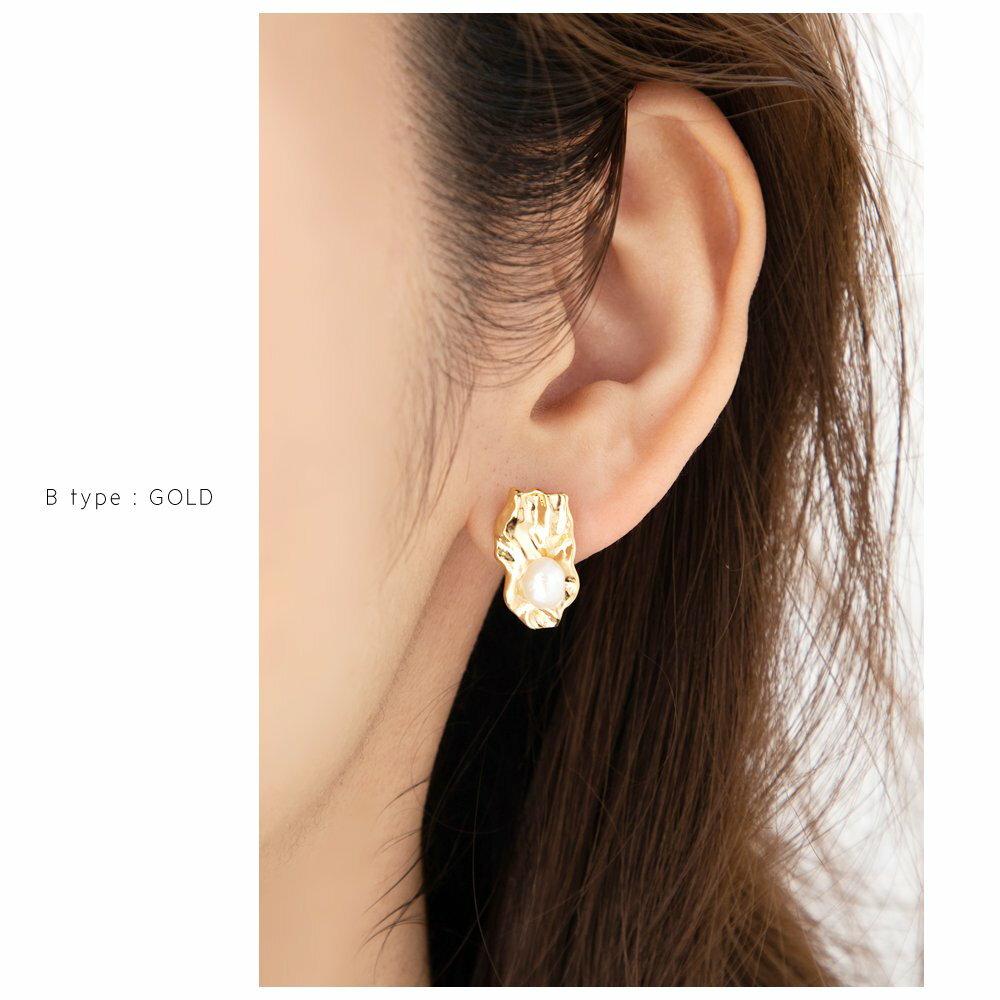 日本Cream Dot  /  不規則珍珠穿孔耳環  /  s00011  /  日本必買 日本樂天代購  /  件件含運 8