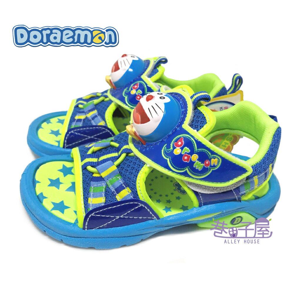 【巷子屋】DORAEMON哆啦A夢 男童大頭電燈造型運動涼鞋 [50776] 藍 MIT台灣製造 超值價$198