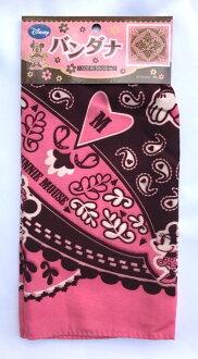 日本 迪士尼 米奇米妮 方巾 頭巾 圍巾 50×50cm *夏日微風*