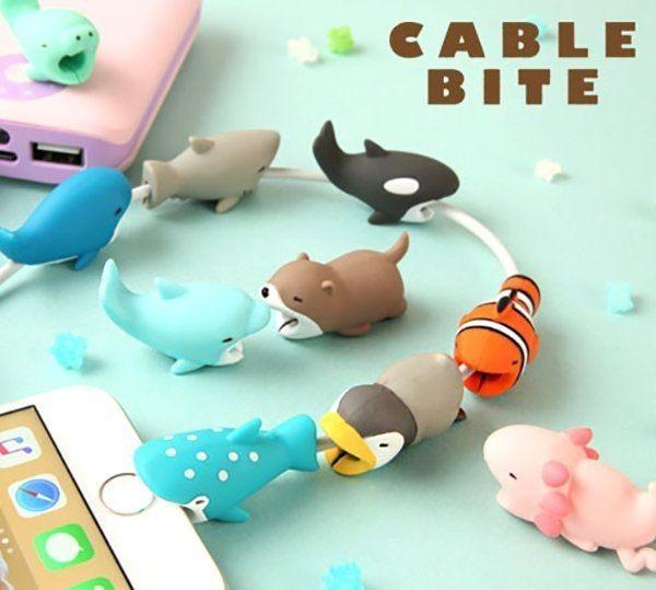 咬咬小動物 iPhone傳輸線 充電線 防斷保護套 Hamee Cable Bite 海洋系列 該該貝比  ☆