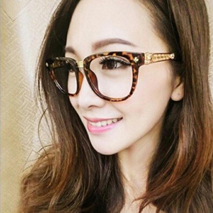 糖衣子輕鬆購~DZ0040~ 金屬鏤空花紋眼鏡框復古裝飾男女眼鏡框架