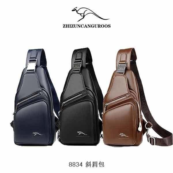 【愛瘋潮】99免運ZHIZUNCANGUROOS8834斜肩包包包斜背包側背包型男包